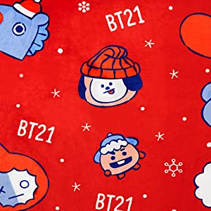 Amazon Com Bt21 Official Winter Blanket By Line Friends