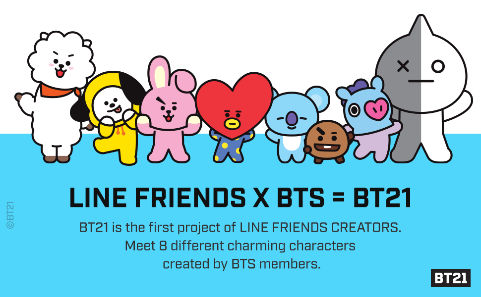 BT21 Official Merchandise by Line Friends - Cooky Character Pong Pong Cushion 11.8 Inches
