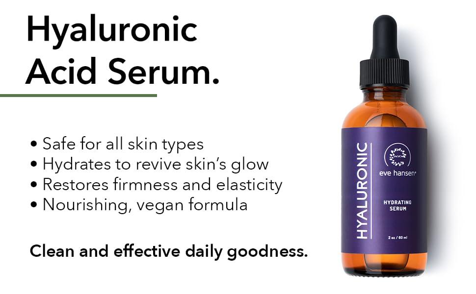pure hyaluronic acid serum for face green tea anti-aging serum dark spot corrector for face