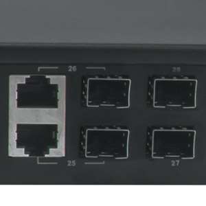 SFP, Combo and Console Ports