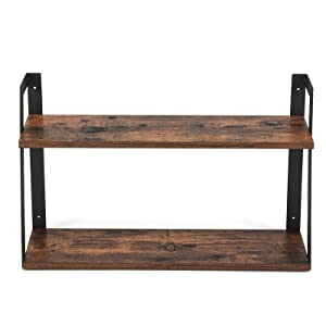 Floating Shelf, 2 Tier  Wall Shelf