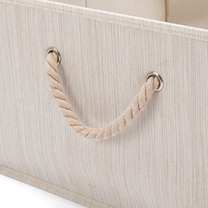 bins 2 Cotton Rope Handles for Closet and Cabinet