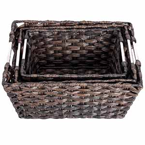 Do These Storage Baskets Come With Identical Sizes? No, This Is A NESTING BASKET  SET With The Smallest One Measuring 11.8 (8.6 On The Bottom) X 9.4 (6.3 On  ...