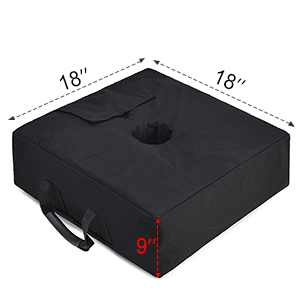 size 18 x 18'' umbrella weight bag