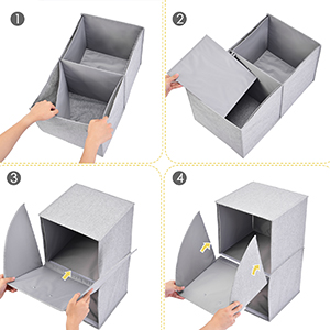 Storage Cubes Organizer Pull-Down Doors