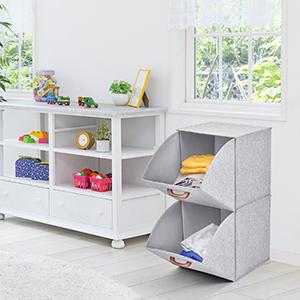 2-Tier Collapsible Storage Cubes Organizer