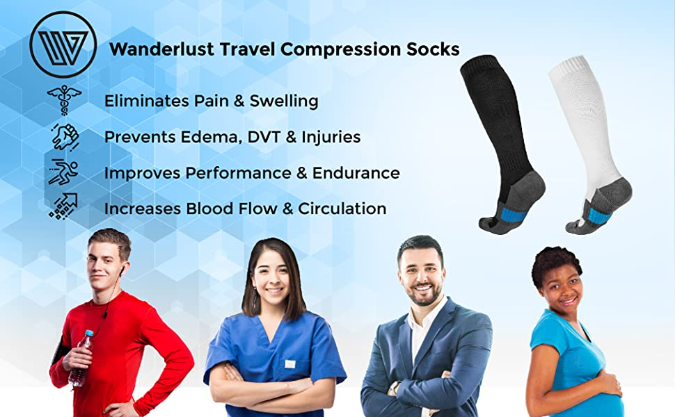 Best everyday compression socks to relieve edema, swelling, dvt, pain, and varicose veins