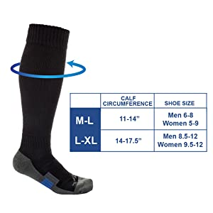 Perfect sizing for small, medium, large, extra large, & XXL - great for both skinny and wide calves