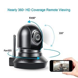 Amazon.com: Wireless Baby Pet Monitor HD, WiFi, Niñera Cam ...
