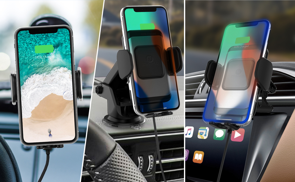 Shishangshi Car Wireless Charger Pad,10W QI Fast Charging,Car Dashboard Phone Holder Stand Mount iphone11//11pro//Max//XS//XR//X//8//8P,Sumsung S10//S10+//S9//S9+//S8
