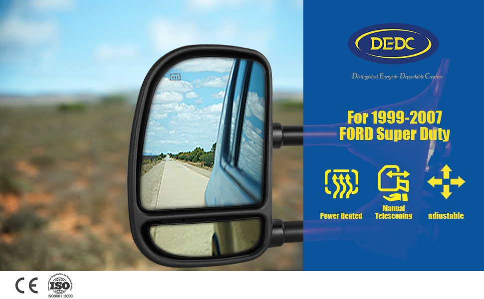 Dorman Manual Power Mirror Glass LH Left for Excursion F250 F350 F450 F550