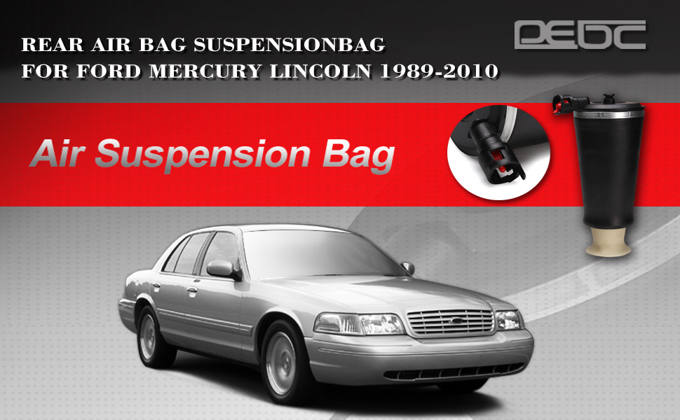 DEDC Pair Air Ride Suspension Rear Spring Bag Assembly Fit For Ford Crown Victoria Lincoln Town Car Mercury Grand Marquis