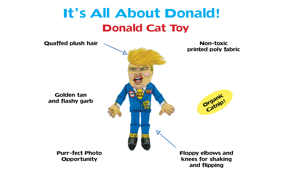 Donald Trump Hillary Clinton Cat Toy