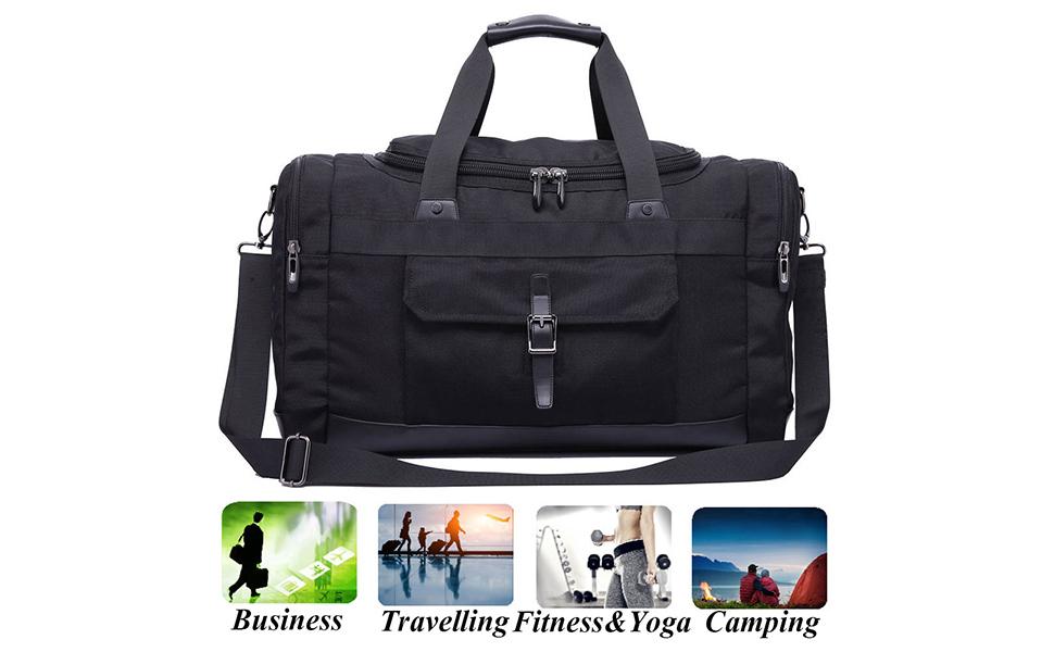 8ef449c62f05 Domila Travel Duffel Bag 21   Large Unisex Weekender Bag Carry-on Luggage  Tote TSA Friendly
