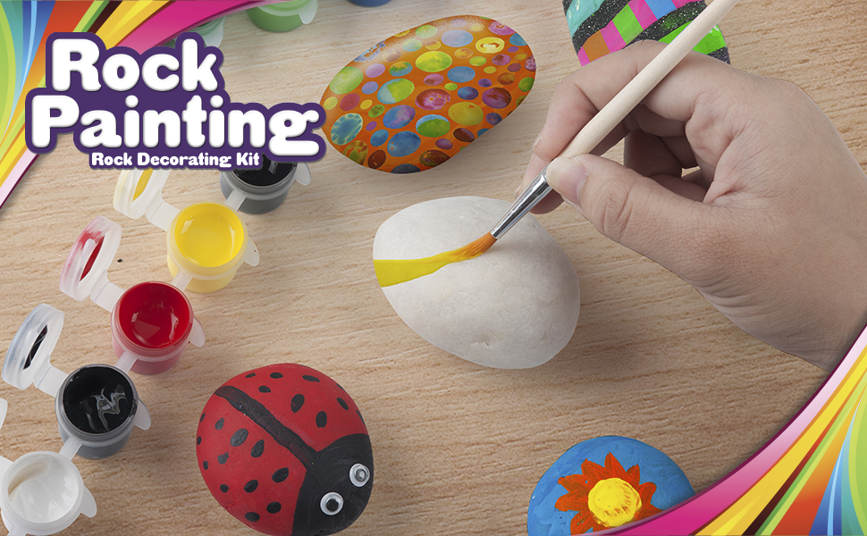 rock painting kit set for kids toddlers