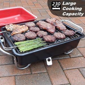 Amazon.com: Raptor Grilling – Parrilla de carbón portátil ...