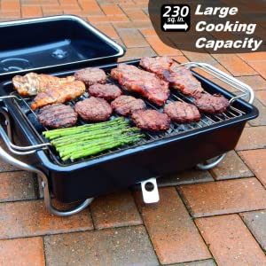 large portable grill jumbo smokey charcoal table top efficient camping travel smoker hibachi griller