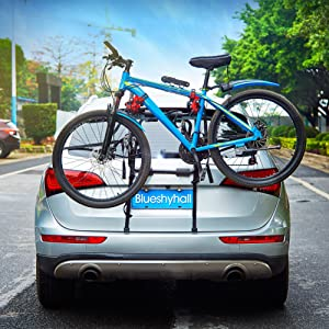 Blueshyhall Car Bike Carrier Tailgate Bicycle Carrier without Trailer Coupling Bicycle Carrier with Straps Style 2
