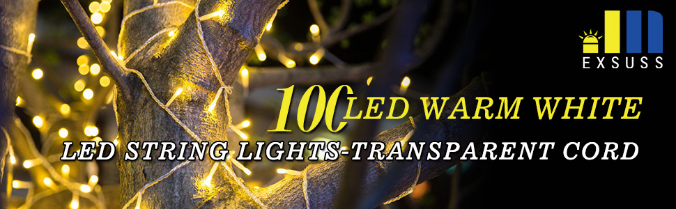 warm white string fairy lights for room decoration