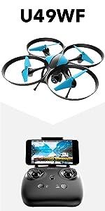Flashandfocus.com 08ea8ea2-57d7-43e2-bdcf-32c6ad9eb9a0._CR0,0,450,900_PT0_SX150__ Force1 U45WF FPV RC Drone with Camera - VR Capable WiFi Quadcopter Remote Control Flying Drone with 720p HD Camera Live…