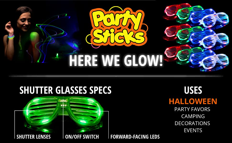 Men's Glasses Apparel Accessories Trustful Led Glasses Light Up Shades Flashing Rave Wedding Party Eyewear Luminous Glowing Night Shows Decors Activities Christmas Supply Evident Effect