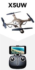 Flashandfocus.com b7b476f4-8931-4d53-bfa6-97efb9f58912._CR0,0,450,900_PT0_SX150__ Force1 U45WF FPV RC Drone with Camera - VR Capable WiFi Quadcopter Remote Control Flying Drone with 720p HD Camera Live…