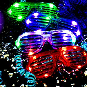 Men's Eyewear Frames Trustful Led Glasses Light Up Shades Flashing Rave Wedding Party Eyewear Luminous Glowing Night Shows Decors Activities Christmas Supply Evident Effect Apparel Accessories