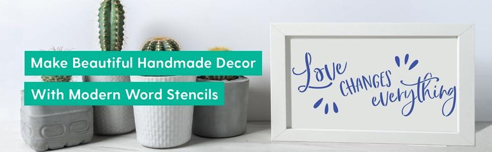 Amazon.com: Me gusta esa lámpara Word Stencils: Home & Kitchen