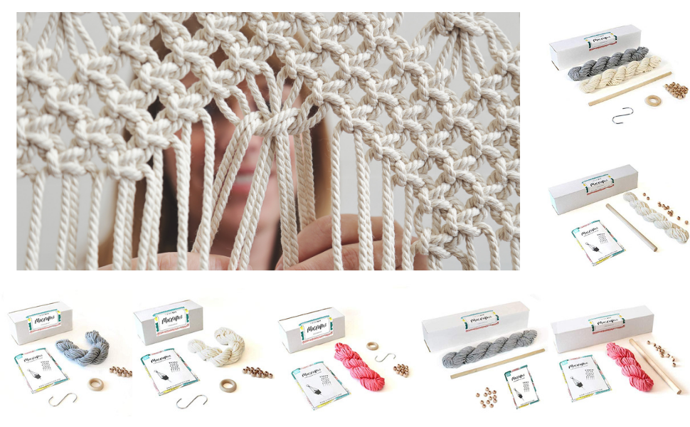 Amazon Com Diy Macrame Wall Hanging Kit Complete
