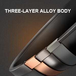 Three-layer alloy body