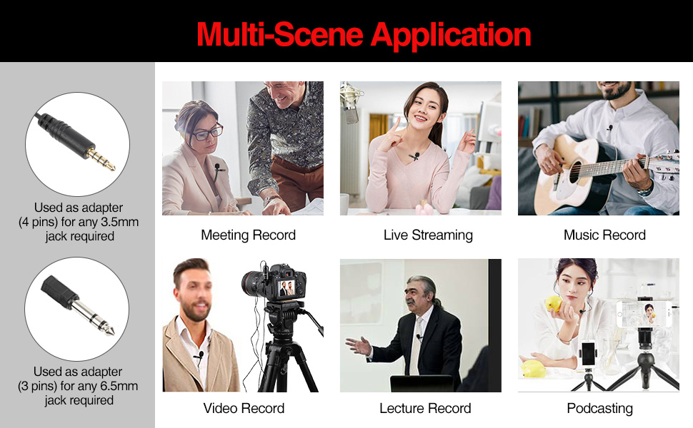 Interview ENEGON Lavalier Lapel Microphone DSLR Omnidirectional Condenser Mic for Camera DV Camcorder and iPhone//Android Smartphone Perfect for YouTube Video Recording/… Tablets and PC