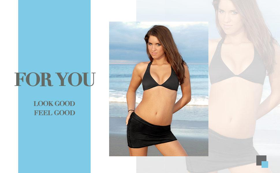 962a3992fc493 Amazon.com: Anwell Women's High Waisted Swim Skirt Tankini Bottom ...