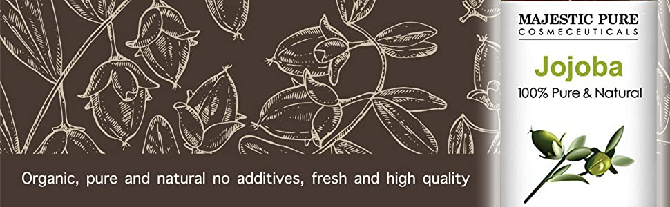 Majestic Pure jojoba oil carrier essential 100% pure natural therapeutic grade