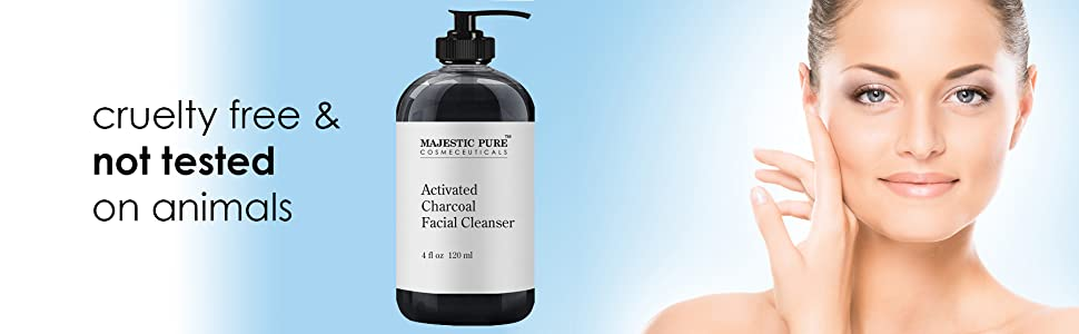 Majestic Pure activated charcoal cleanser face wash detox skin pore