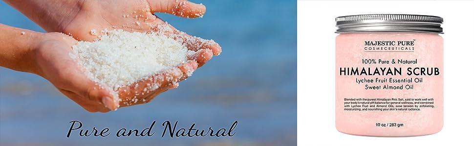 Majestic Pure Himalayan Scrub Body Face Natural Organic Authentic