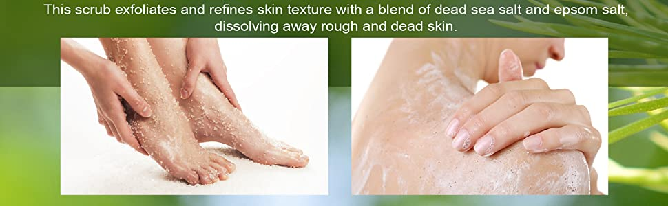 Majestic pure tea tree foot body scrub all natural antifungal essential oil organic cruelty free