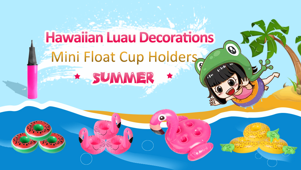 Aytai 10pcs Inflatable Drink Pool Floats - 1pc Large Flamingo Inflatable Drink Holder and 9pcs Mini Drink Float Cup Holders for Summer Pool Party ...