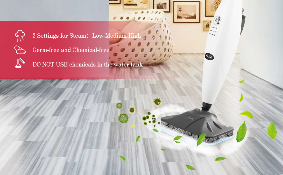 Amazon Com Inlife Steam Mop With Adjustable Steam 360