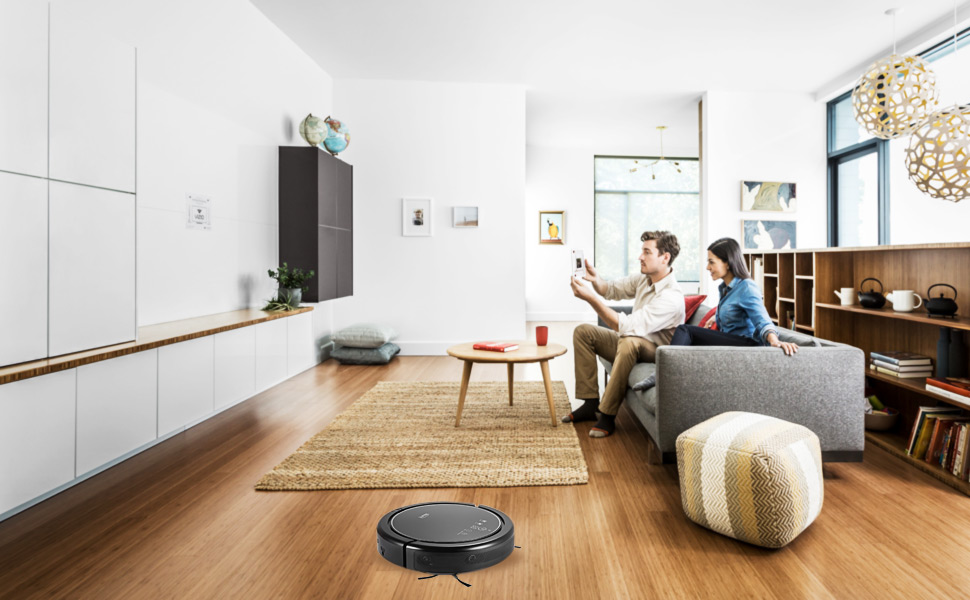 Automatic Robotic Vacuum Cleaner- Remote Control and Auto Recharge