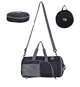 The duffle bag can carry as a sports duffel bag .You can carry by a single shoulder strap or side handles strap.