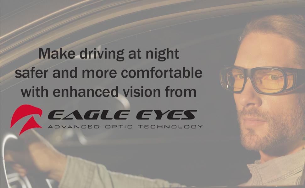 3d63597a244 Amazon.com  Eagle Eyes Classic Aviator Night-Lite - Night Driving ...