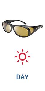 Amazon.com: Eagle Eyes FitOns Polarized Sunglasses - Black ...