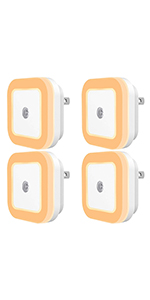 SYCEES Dimmable LED Night Light, Warm White, 4-Pack
