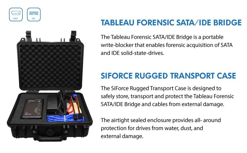 Tableau Forensic SATA/IDE Bridge TK35U SiForce Bundle with Rugged Case