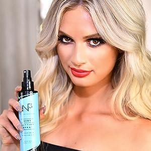 dewy setting spray, moisturizing spray, makeup setting spray