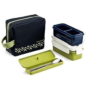 Amazon.com: Komax Lunchmate Bento - Kit de fiambrera con 2 ...