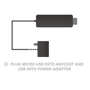 power the adapter