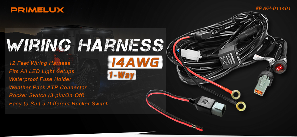 oZM9ycLAS6aq._UX970_TTW__ amazon com primelux pwh 011401 12ft 14 gauge relay wiring harness easy wiring harness at alyssarenee.co