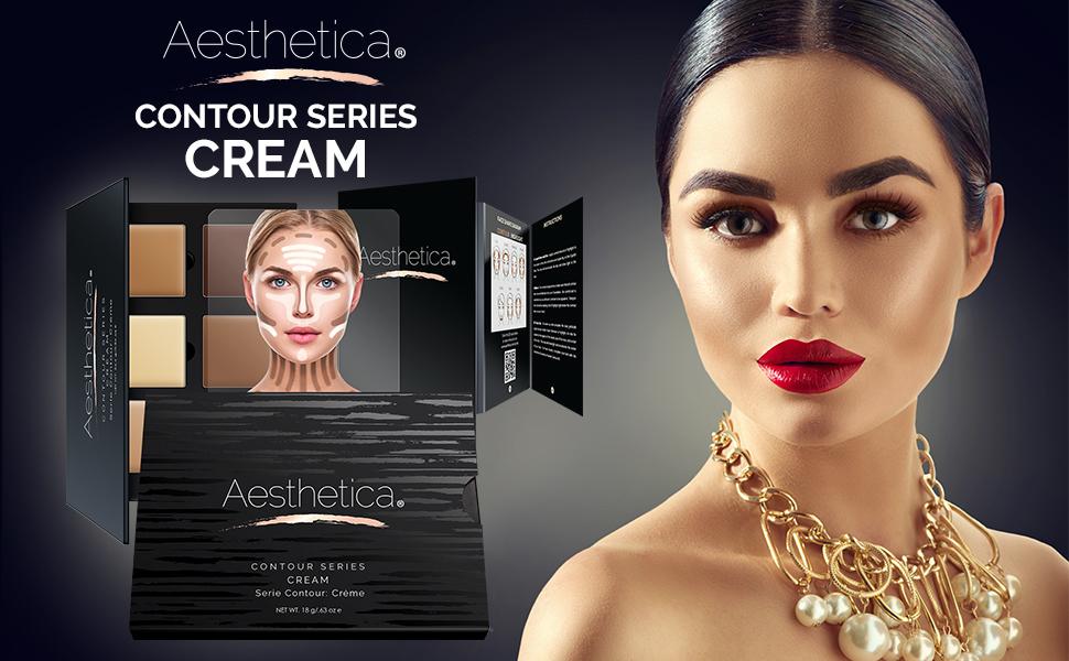 Amazon.com : Aesthetica Cosmetics Cream Contour and Highlighting ...