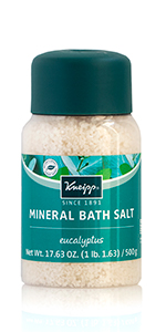 Eucalyptus Bath Salt with trace essential minerals and magnesium for relaxation and decongestant